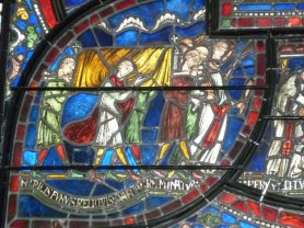 Detail from Window in Canterbury Cathedral